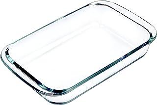 Clear Glass Baking Dish for Oven, Oblong Casserole Dish Rectangular Baking Pan Glass Bakeware,1 Piece (3.5 Quart)