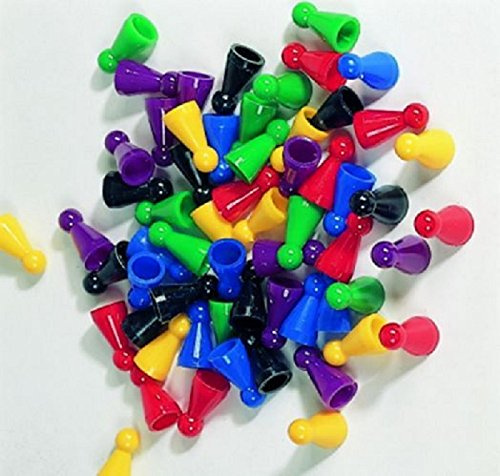 Weible Spiele 60er-Set Halmakegel aus Kunststoff (25 mm), farblich gemischt
