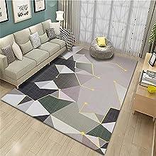 Fácil De Limpiar anti alergico Interiores Alfombra Gris Alfombra de sala de estar gris abstracto geométrico moderno dormitorio alfombra antideslizante el pie se siente cómodo Alfombraes 140x200cm alfo