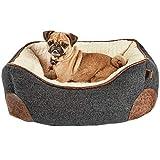 HARMONY Grey Nester Memory Foam Dog Bed, 24' L x 18' W, Small, Gray/White