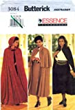 Butterick 3084 Sewing Pattern Womens Flared Hooded Goth Cape Skirt Size 12 - 14 - 16