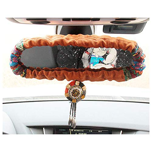 Siyibb Bohemian Style Car Rear View Mirror Cover for Women - Orange