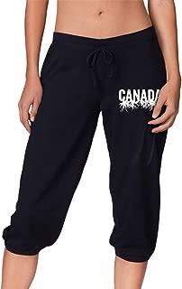 YOULUCK-7 Canada Roots Women's Capri Pant, Lounge Pants
