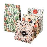 12Pcs / 1Set 4 diseños Vintage Floral Kraft bolsa de regalo con elegante...