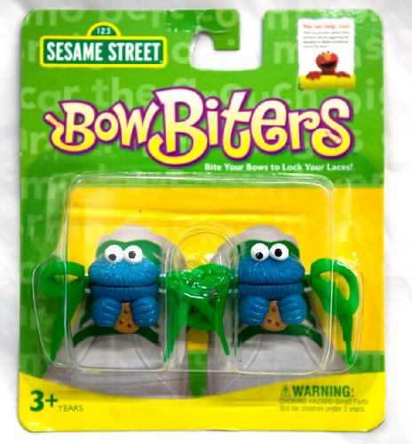 Cookie Monster Bow Biters Shoe Lace