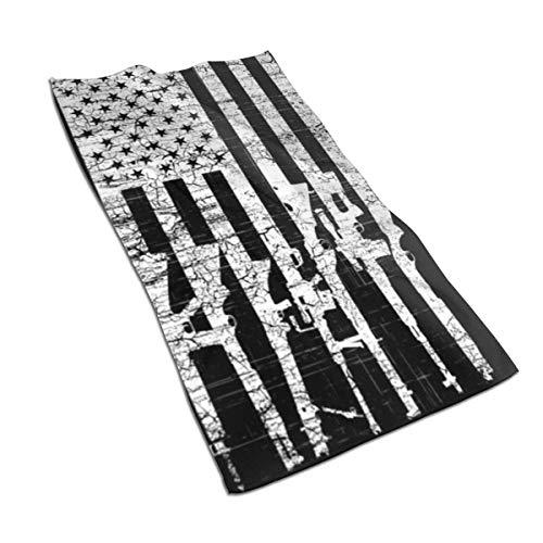 Toalla de mano con patrón de bandera de Estados Unidos, toalla de baño, toalla de baño, toalla de cocina, plato de invitados, decoración de baño