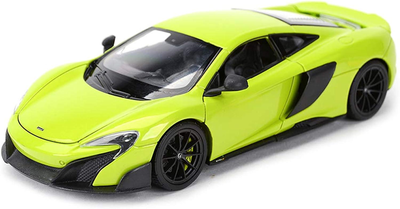 precios razonables RENJUN Modelo de Coche Coche Coche Coche 1 24 McLaren 675LT aleación de simulación de fundición de Juguetes Adornos de colección de Coches Deportivos joyería 19x8.5x5 CM (Color   verde)  Envío 100% gratuito