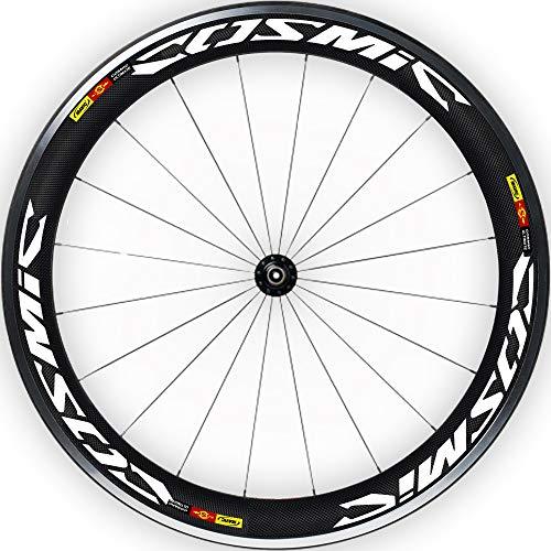 Pegatinas Llantas Bicicleta 29' Mavic Cosmic Ultimate WH18 VINILOS Ruedas Blanco