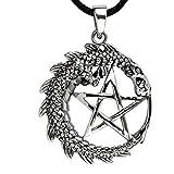 ECHT etNox by Fantasy Dragon - Drachen-Anhänger - 925 Sterling Silber (Pentagramm mit Drachen)