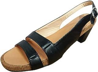JUSTWIN Ladies Vintage Platform Buckle Open Toe Sandals Low-Heeled Open Toe Shoes Casual Sandalas