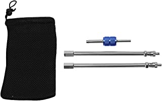 Auto-Parts-Eshop 6'' Dually Valve Stem Extenders Straight Metal Dual Wheel Valve Stem Extensions for Ford Focus F150 F250 ...