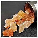 WUBBHIN Kristall rau Natürlicher rohorange Salzstein Kristall Raue Reiki-Edelstein-Mineral-Exemplar für Heilung (Size : 500g)