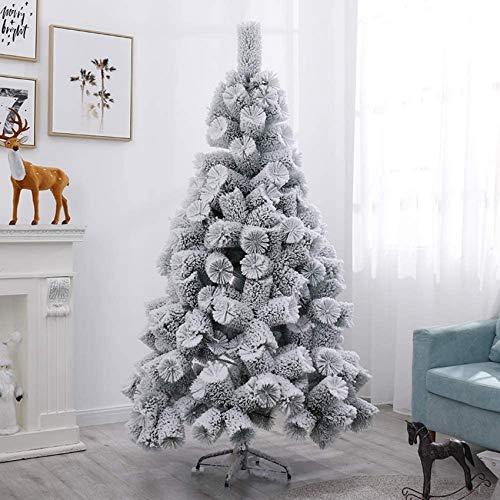 GCE Snow Flock Artificial Christmas Tree Fir Zipper Christmas Tree Christmas Decorations Christmas Tree Ornaments - 180cm (6ft)