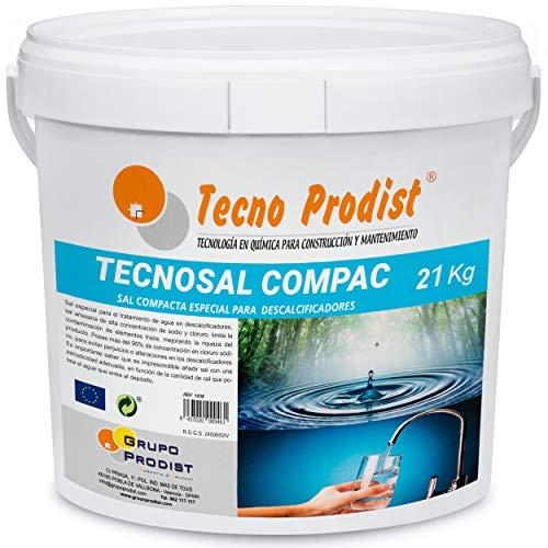 Tecno Prodist TECNOSAL COMPAC- Sal compacta Especial para descalcificadores - En Cubo de 21 kg Comodidad
