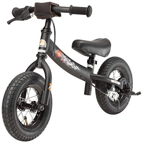 BIKESTAR Kinder Laufrad Lauflernrad Kinderrad für Jungen und Mädchen ab 2-3 Jahre | 10 Zoll Sport Kinderlaufrad | Schwarz - 4