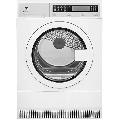 Electrolux EFDE210TIW 24' Electric Front Load Dryer with 4 cu. ft. Capacity IQ Touch Controls Gentle Dry Delay Start Stainless Steel Tub in
