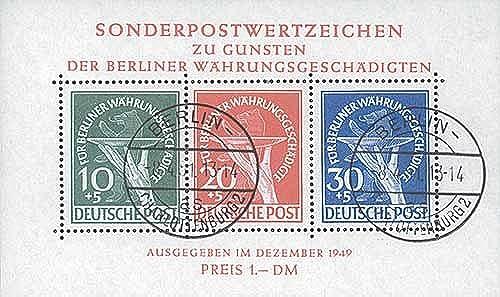 Goldhahn Briefürken Berlin Block 1 gestempelt geprüft Schlegel W ungsgesch gte 1949  Briefürken für Sammler