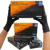 ARNOMED gants jetables XL, gants jetables noirs, 100 pièces/boîte, sans poudre et...
