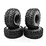 1.9inch RC Tires, YZtree 4PCS 1.9inch 120mm Soft RC Crawler Car Tires with Foam Inserts for 1/10 TRXS TRX4 SCX10 90046 90047 MST RGT