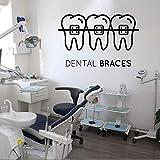 Yyoutop Cuidado Dental Pegatinas de Pared clínica Dental vinilos Decorativos para odontología decoración Dental murales de Papel Tapiz extraíble Cita calcomanías para Ventanas
