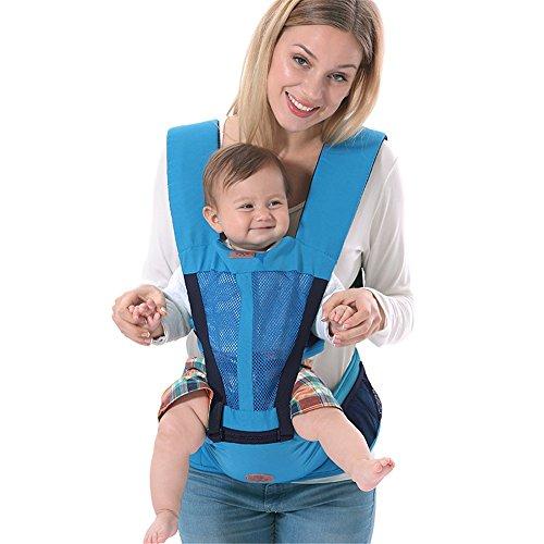 G-YY Baby Riemen Fordermaschine Baby-Tragegurte vorne halten Baby vier Jahreszeiten universal, breathable sky blue