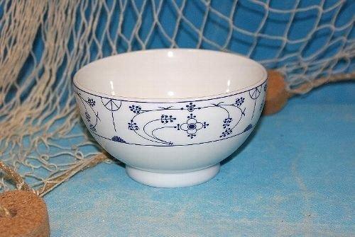Ocean-Line Indisch Blau / Strohblume Müslischale Porzellan