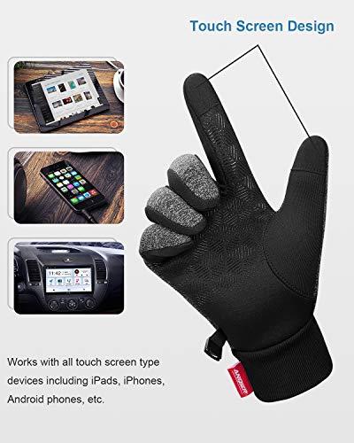 Anqier Handschuhe Herren Damen Touchscreen Fahrradhandschuhe Winter Winddicht Winterhandschuhe Outdoor zum Laufen Wandern Reiten Bergsteigen - 4