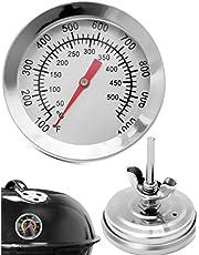 HomeTools.eu® – temperaturbeständig analog BBQ grilltermometer matlagningstermometer, för att uppgradera BBQ grytor bröder rökare, rökugn. 10 °C – 500 °C