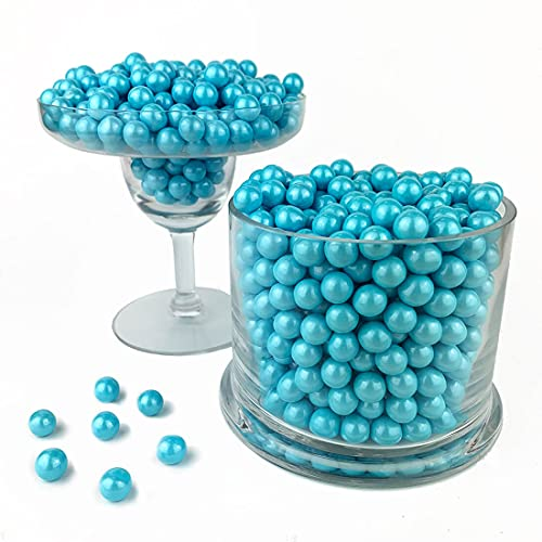 Color It Candy Shimmer Powder Blue Sixlets 2 Lb Bag - Perfect For Table Centerpieces, Weddings, Birthdays, Candy Buffets, & Party Favors.