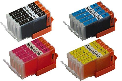 【Ecolink】キャノンCANON 互換インクカートリッジBCI-351XL+350XL/6MP対応 BCI-351XLBK(ブラック)X4+BCI-351XLC(シアン)×4+BCI-351XLM(マゼンタ)X4+BCI-351XLY(イエロー)X4 互換インク 16個パック