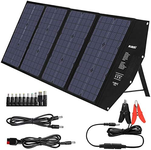SUAOKI 100W Foldable Solar Panel Charger for SUAOKI Portable Power Station Jackery Explorer product image