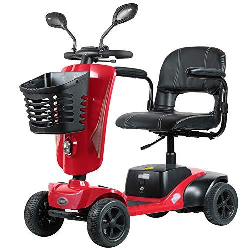DGPOAD Scooter Senioren Falbar,e Rollstuhl Faltbar Leicht Elektrofahrzeug Quad,elektroroller Für Behinderte 125kg,elektroscooter Mit Strassenzulassung Elektromobile Für Senioren 0-8 Km/h Elektromobil