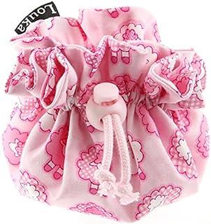 Louka Schnullertasche rosa wei/ße Herzen Baby Schnullerbox mit Clip f/ür Aufbewahrung des Schnullers Jungen /& M/ädchen