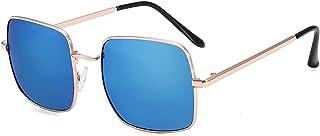 YTNGYTNG - Gafas de Sol Nuevo lugar para niños gafas de sol moda niño muchacha muchacha niño delgado frontera niño gafas de sol teñida color marco al aire libre niños gafas de sol ( Objektiv-Farbe : Gold Blue )