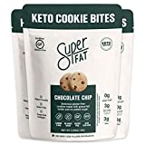 SuperFat Cookies Keto Snack Low Carb Food Cookies- Chocolate Chip 3 Pack - Gluten Free Dessert Sweets with No Sugar Added for Paleo Healthy Diabetic Diets