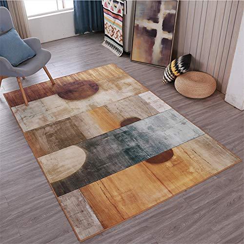 WQ-BBB Leicht Zu Reinigen Sofa Vorleger Brauner Teppich, Kristallvlies, Multigröße, abstraktes weißes Grau einfach zu pflegen saugfähig Teppichs 140X200cm