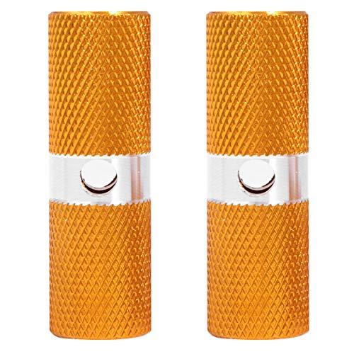 ABOOFAN Bazooka Aluminium-Fußrasten für Vorderachse, rutschfest, 1 Paar (gelb)