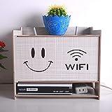 XDDan Set-Top Box WiFi del Router De Almacenamiento Cajas De TV Estante De Energía del Enchufe del Cable De Alambre Cajas De Almacenamiento De Almacenamiento En Rack Soporte Organizador De Cables,A