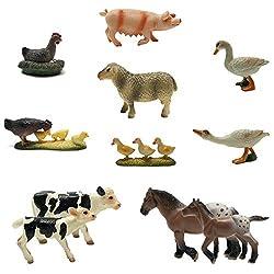 top 10 realistic animal figures Borry Farm Animal Figure – Set of 15 different small realistic plastic farm animals …