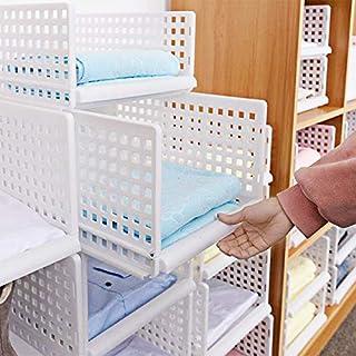 Yoillione Organiseur de Rangement de Placard de Cuisine, Organiseur de vêtements, tiroirs de Rangement empilables Blanc, l, 1