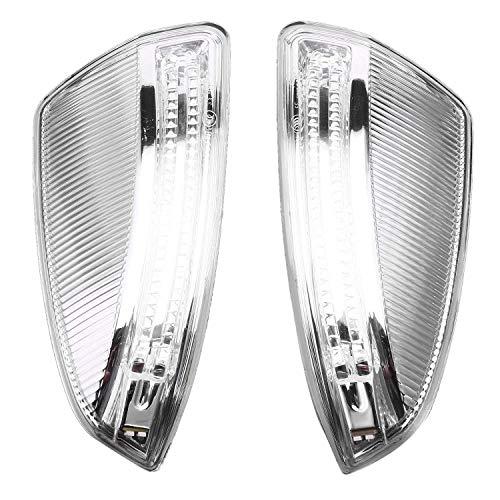 Kamenda Izquierda/Derecha W204 Espejo Retrovisor de la Puerta Espejo Lateral Luces Indicadoras de Giro LáMparas para Mercedes para Ml Clase C-Clase W204
