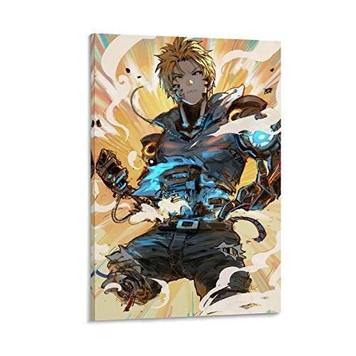 Impression sur toile avec dessin animé One Punch Man 17 60 x 90 cm