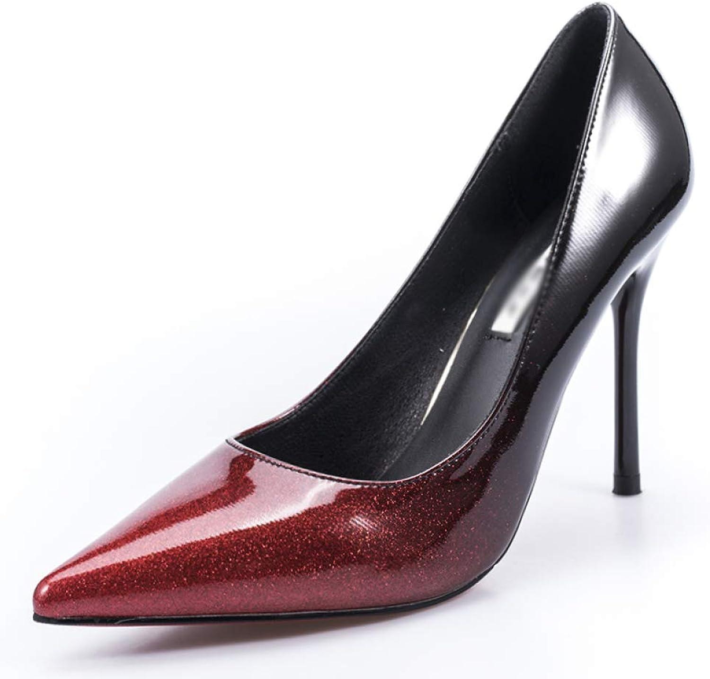 WFL Silber High Heels Damen Fein mit mit professionellen Sexy Spitz Single Schuhe des Frühlinges Sexy Gradienten  ohne zu zögern! jetzt kaufen!