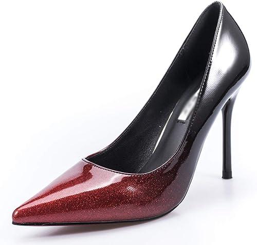 WFL Silber High High High Heels Damen Fein mit professionellen Sexy Spitz Single Schuhe des Frühlinges Sexy Gradienten  zurückhaltende Luxus-Konnotation