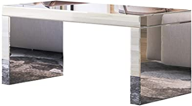 Mirrored Coffee Table Wooden Mirror Side Table TV Stand Living Room Modern Furniture