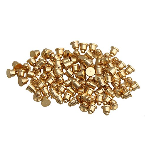 Yibuy 100pcs 2x2mm vergoldet Kupfer Pogo Pins Probe gefedert wasserdicht