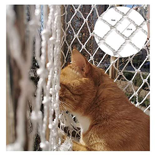Containernetz Sicherungsnetz Balkonnetze Für Katzen - Katzennetz Durchsichtig - Balkonnetz Transparent Ideal Für Deine Katze - Katzennetz Für Balkon & Fenster Inkl(In Mehreren Größen Erhältlich - Weiß