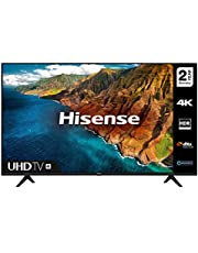 HISENSE 50AE7000FTUK 50-inch 4K UHD HDR Smart TV with Freeview play, and Alexa Built-in (2020 series) [Amazon Exclusive], Black