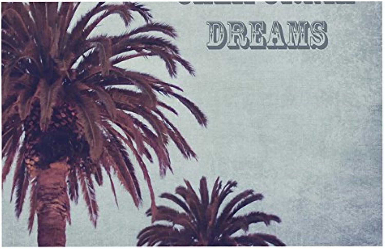 KESS InHouse AB2032ADM02 Ann Barnes California Dreams bluee Brown Dog Place Mat, 24 x15