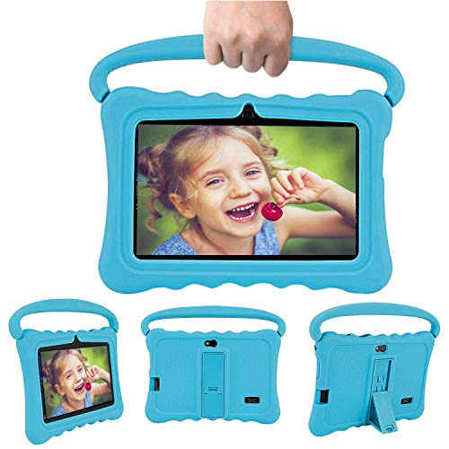 Tablet para Niños 7.0 Pulgadas HD - 2GB RAM+32GB de Memoria Interna,Dual Cámara Batería de 4000mAh,Tablet Infantil Android 7.0, Tablet PC Procesador de Quad-Core WiFi/Bluetooth/Youtube/Google(Azul)